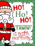 Ho! Ho! Ho! Subtraction Facts I Know! (Christmas Math Craftivity)