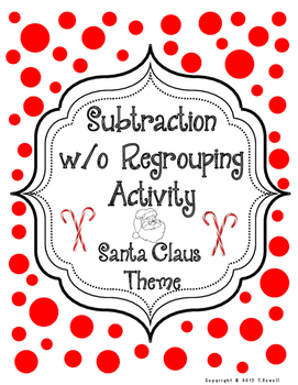 Ho Ho Ho Subtraction without Regrouping Christmas Santa Claus Activity