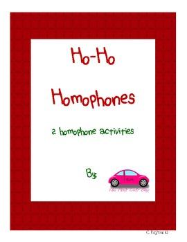 Ho Ho Homophones 2 activities in 1