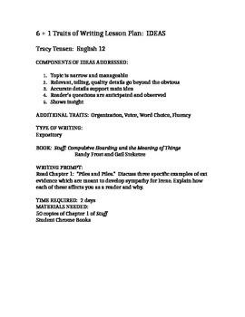 Hoarding: Rhetorical Analysis (6 Traits + 1)