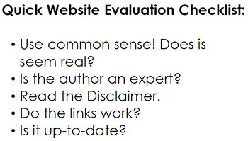 Hoax Website Evaluation Lesson