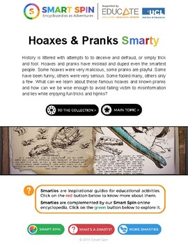 Hoaxes & Pranks (thematic unit)