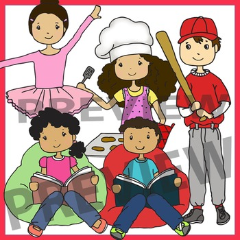 Hobbies Clip Art - Middle School Kids