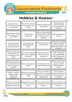 Hobbies & Humour - Conversation Flashcards