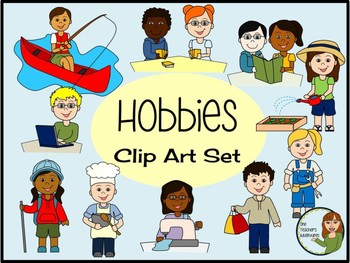 Hobbies Kids Clip Art Set - 20 images for personal or commercial use