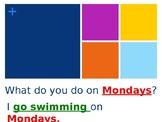 Hobbies and Days of the Week (ESL/EFL PowerPoint)