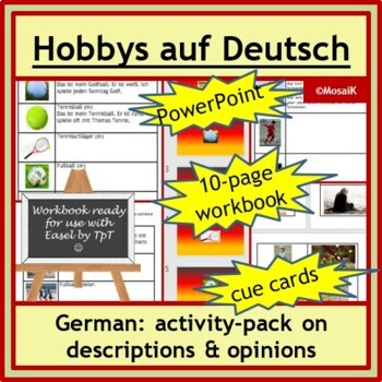 Hobbies in German: Descriptions, opinions, present and past; wkbk and others...