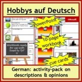 Hobbies in German: Descriptions, opinions, present and pas