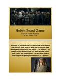 Hobbit Board Game (Editable Post Reading Activity)