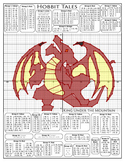 Hobbit Tales - Smaug the Dragon Coordinate Plane Graphing