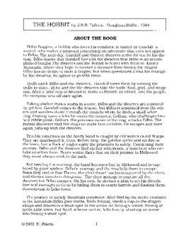 Hobbit, The Literature Guide