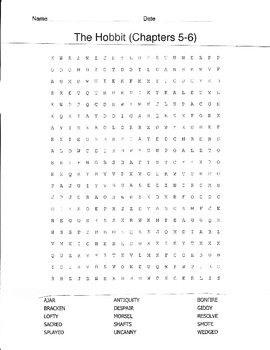 Hobbit word searches Ch. 1-16
