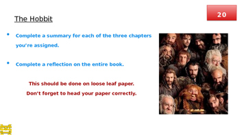 Hobbits and Heroes PPT Lessons