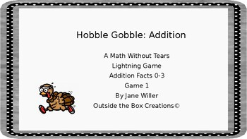 Hobble Gobble : Addition (Facts 0-3)-Lightning Game 1