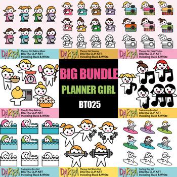 Hobby Clipart Bundle Vol. 3 (planner stickers clip art) Kids Activities Clip Art