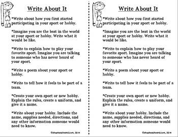 Hobby Time Lapbook Scrapbook: Activities to Build Self-Esteem & Confidence
