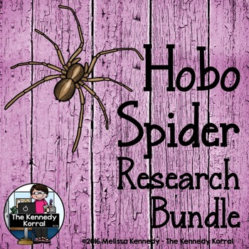 Hobo Spider Research Bundle  {Anchor Chart, Report, Trifold, & MORE!}