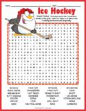 Hockey Word Search Worksheet