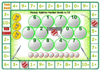 Hockey Addition Number Facts to 10