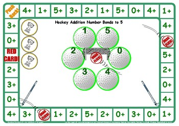 Hockey Addition Number Facts to 5