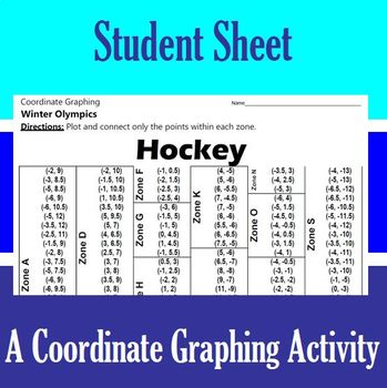 Hockey - An Olympic Coordinate Graphing Activity