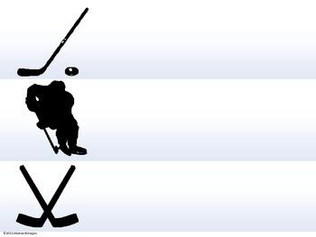 Hockey Border and Name Plates