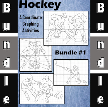 Hockey Bundle #1 - 4 Coordinate Graphing Activities