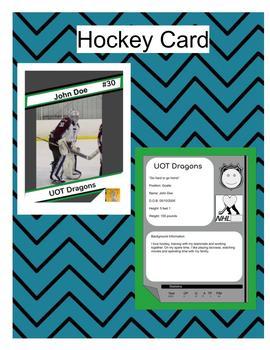 Hockey Card Template