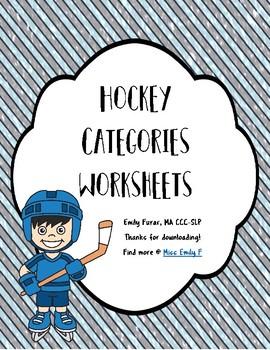 Hockey Categories Worksheets