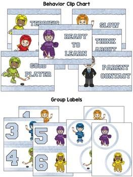 Hockey Classroom Decor ~ Editable