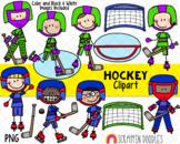 Hockey Clipart - Boys Playing Hockey Clipart - Goalie - Ho