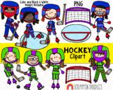 Hockey Clipart - Girls Playing Hockey Clipart - Goalie - H
