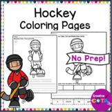 Hockey Coloring and Writing Worksheets