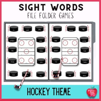 Sight Word Folder Games Hockey Extreme