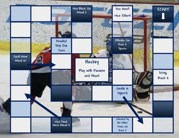 Hockey Game Board Template