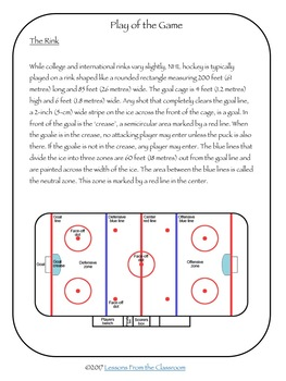 Hockey : Informational Text and Activities