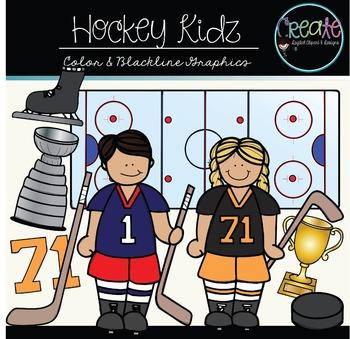 Hockey Kidz - Digital Clipart