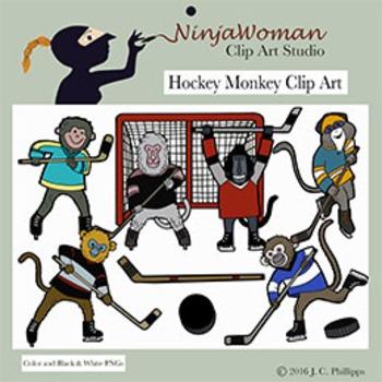 Hockey Monkey Clip Art
