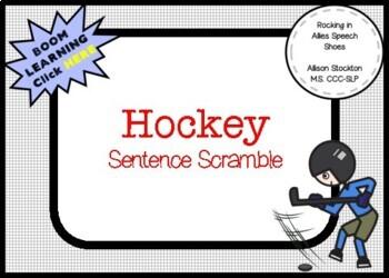 Hockey NHL Sentence Scramble Grammar Syntax (28 Sentences, 2 Worksheets)