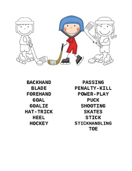 Hockey Packet  2nd-4th grades