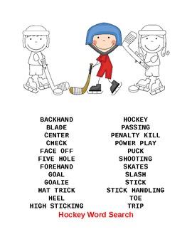 Hockey Packet  5th - 8th grades