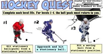 Hockey Quest Skill PE Progression - 8 Levels!