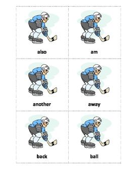 Hockey Sight Word Game