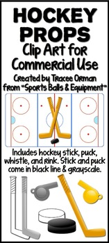 Hockey Sports Equipment Clip Art Graphics