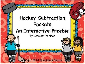 Hockey Subtraction Pockets: An Interactive Freebie