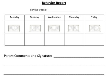 Hockey Themed Behavior Chart