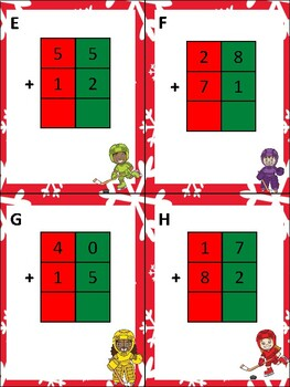 Hockey Two Digit Addition (without regrouping)