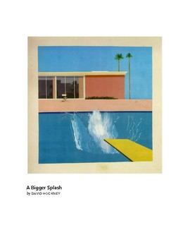 Hockney A Bigger Splash Pop Art Grades 1-2