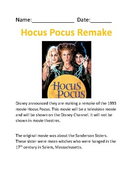 Hocus Pocus 2 - Remake information - review article and questions