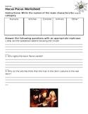 Hocus Pocus Active Listening Worksheet with Word Bank - Ha